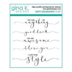 Gina K Designs Scripty Encouragement Stamp Set