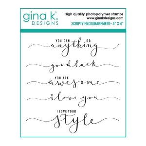Gina K Designs Scripty Encouragement Stamp Set