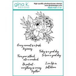 Gina K Designs Massive Peony Stamp Set