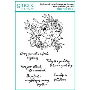 Gina K Designs Massive Peony Stamp Set