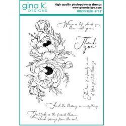 Gina K Designs Majestic Peony Stamp Set
