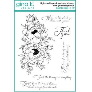 Gina K Designs Majestic Peony Stamp Set