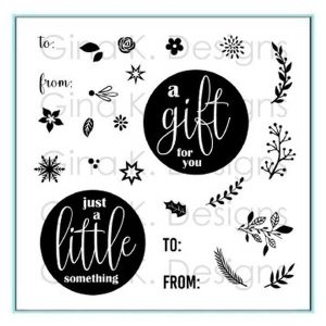 Gina K Designs Mini Wreath Builder Stamp Set