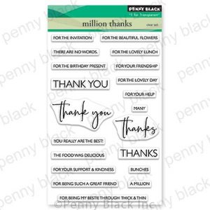 Penny Black Million Thanks Clear Stamp Set