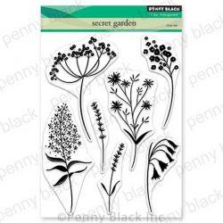 Penny Black Secret Garden Clear Stamp Set