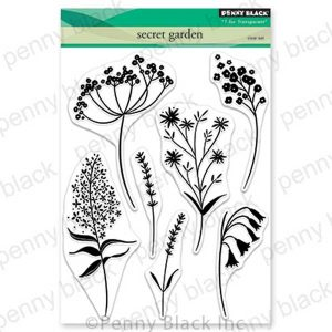 Penny Black Secret Garden Clear Stamp Set