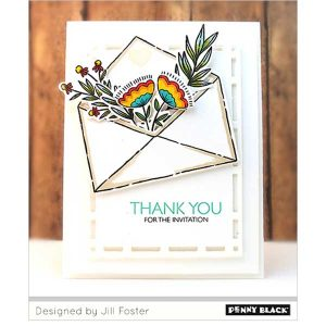 Penny Black Exquisite Envelope Stamp Set class=