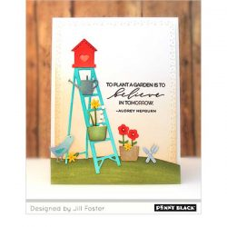 Penny Black Blooming Sentiments Clear Stamp Set
