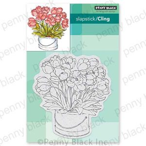 Penny Black Blooming Bunch Cling Stamp