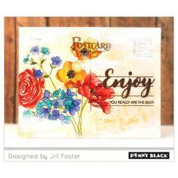 Penny Black Vintage Postcard Cling Stamp