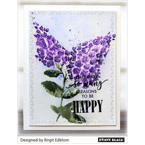 Penny Black Lovely Lilacs Cling Stamp class=