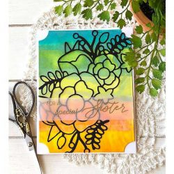 Ink To Paper Beautiful Bouquet Outline Die
