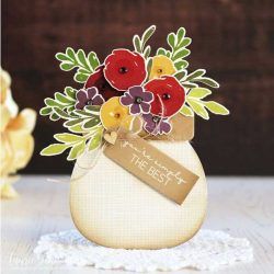 Ink To Paper Beautiful Bouquet Tag Die