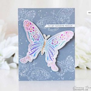 Papertrey Ink Butterfly Folk Outline Stamp Set class=