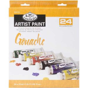 Royal Brush Gouache Acrylic Paints - 24 colors