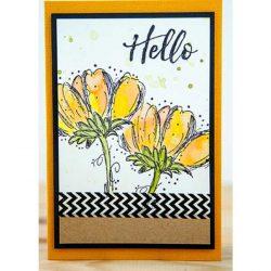 Darkroom Door Fine Flowers Stamp