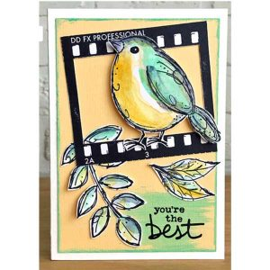 Darkroom Door Garden Birds Stamp class=