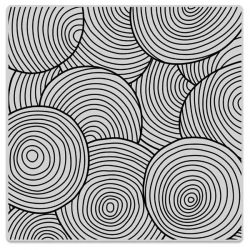Hero Arts Background Cling Stamp - Circle Pattern