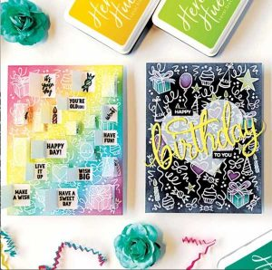 Hero Arts Wish Big Peek-A-Boo Party Stamp Set class=