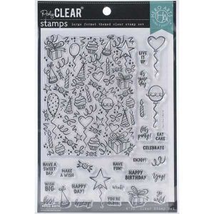 Hero Arts Wish Big Peek-A-Boo Party Stamp Set