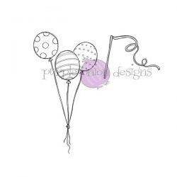 Purple Onion Designs Balloon Trio & Streamer