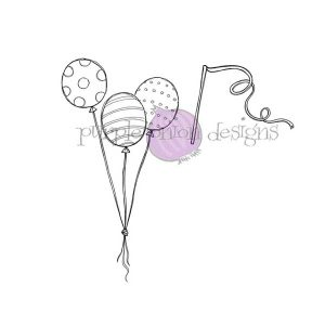Purple Onion Designs Balloon Trio & Streamer