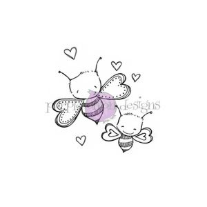 Purple Onion Designs Bee Mine Stamp