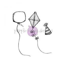 Purple Onion Designs Balloon, Party Hat & Kite