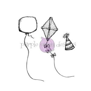Purple Onion Designs Balloon, Party Hat & Kite