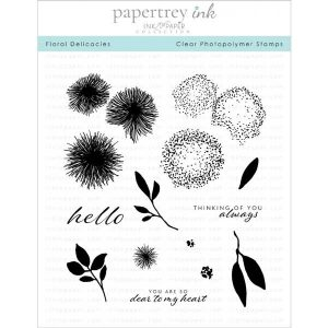 Papertrey Ink Floral Delicacies Stamp Set