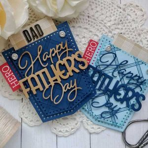 Papertrey Ink To Die For Sentiments: Happy Father's Day Die class=