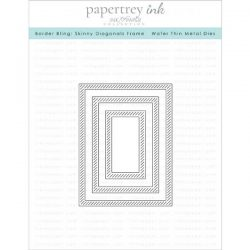 Papertrey Ink Border Bling: Skinny Diagonals Frame Dies