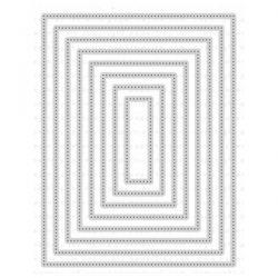 Papertrey Ink Nesting Basics: Pierced Rectangles