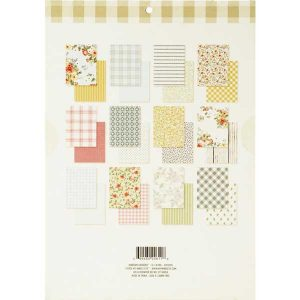 "My Mind's Eye Gingham Gardens Paper Pad - 6""x 8"" class="