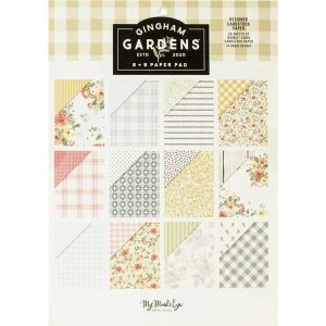 "My Mind's Eye Gingham Gardens Paper Pad - 6""x 8"""