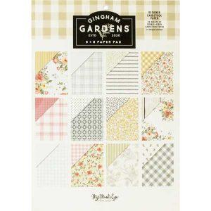 "My Mind's Eye Gingham Gardens Paper Pad - 6""x 8"""