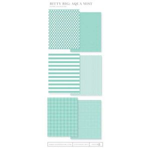 Papertrey Ink Bitty Big Paper Collection: Aqua Mist