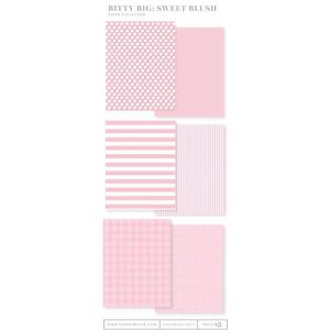 Papertrey Ink Bitty Big Paper Collection: Sweet Blush