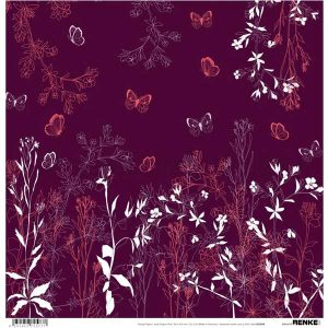 Alexandra Renke Design Paper - Autumn Plants Bordeaux