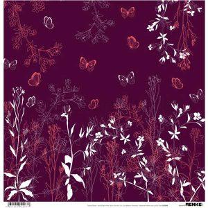 Alexandra Renke Design Paper – Autumn Plants Bordeaux