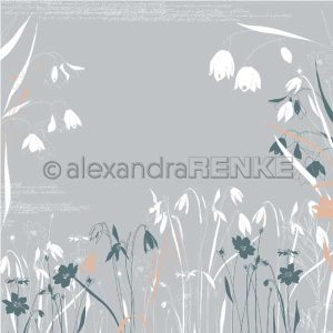 Alexandra Renke Calm Spring Design Paper - Spring Flowers Grey