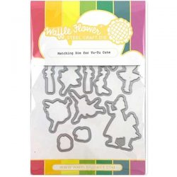 Waffle Flower Tu-Tu Cute Stamp and Die Set