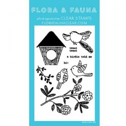 Flora & Fauna Woodgrain Bird Stamp Set