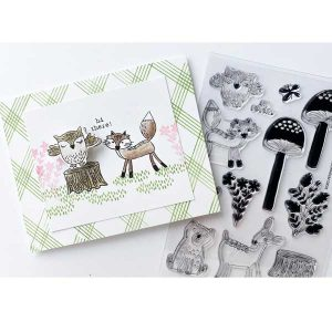 Flora & Fauna Mushroom Forest Stamp Set class=