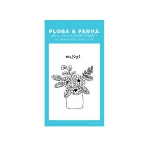Flora & Fauna Mini Flower Vase Stamp Set