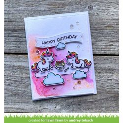 Lawn Fawn Unicorn Picnic Stamp