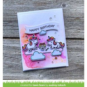 Lawn Fawn Unicorn Picnic Stamp class=