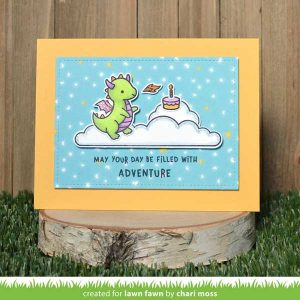 Lawn Fawn Little Dragon Stamp class=