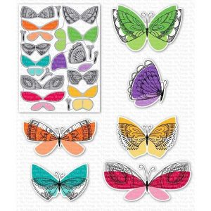 My Favorite Things Brilliant Butterflies Stamp class=