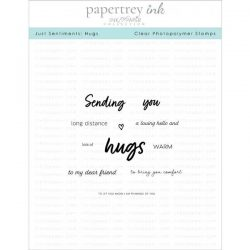 Papertrey Ink Just Sentiments: Hugs Stamp Set